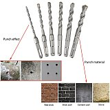 1pc 6 8 10 12mm Hole Saw Drilling Square Handle 150mm Electric Punch Hammer Drill Bits For Wall Concrete Brick Masonry Bit
