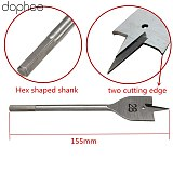 dophee Spade Flat Wood Drill Woodworking Tools Drill Bits Wood Boring Flat Head Spade Paddle Steel Tools Metric 35/38/40mm 1PC