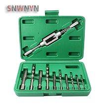 11pcs/set 3-10mm Damaged Broken Screw Extractor Adjustable Tap Die Wrench Stud Remover Tool Kit for Machine Repair