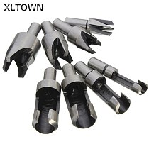 Xltown 8 pcs carbon steel take the corkscrew cork drill woodworking drill claw round dowel carbon steel drill bits