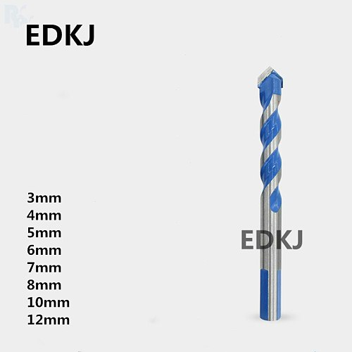 1PCS Blue 3mm-12mm  Multifunctional Glass Drill Bit Twist Spade Drill Triangle Bits For Ceramic Tile Concrete Glass Marble