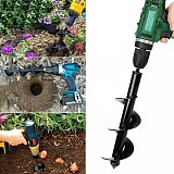 10 sizes Earth Drill Ice Garden Auger Spiral Drill Machine Bit Flower Planter Auger Yard Gardening Planting Hole Digger Tool