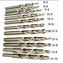 Aluminum Alloy Metal Drill Bit Twist Step Drill Bit 8mm 10mm 12mm 13mm 14mm Metal Drilling Cutting Toolsfor Metal Aluminum Wood