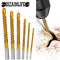 6pcs/set Cobalt Drill Bit Set Twist Drill Bit Set Spiral Screw Metric Composite Tap Drill Bit Tap Multi-function Metal Specia