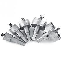 5Pcs 20/25/30/40/50mm HSS Drill Bit Hole Saw Set Carbide Tip TCT Core Metalworking Hole Cutter Soft Metal Sheet Drilling Tools
