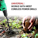 Spiral Hole Digger Ground Drill Earth Drill 6 Sizes Garden Auger Drill Bit Tool For Seed Planting Gardening Fence Flower Planter