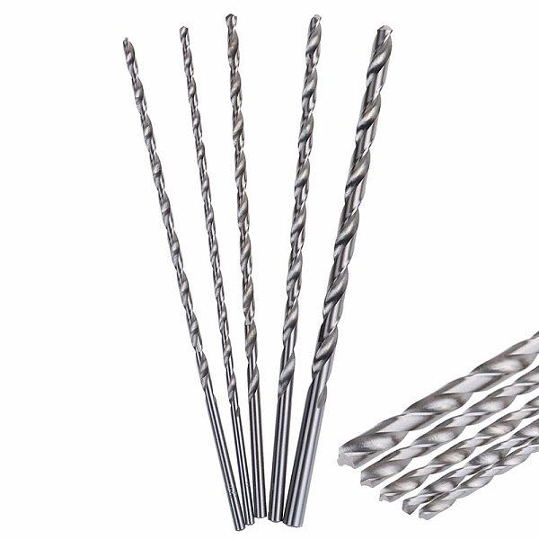 4-8mm HSS Twist Drill Bit Extra Long 200mm Straight Shank Auger For Metal Plastic Power Tools Wood Metal Drilling Tool