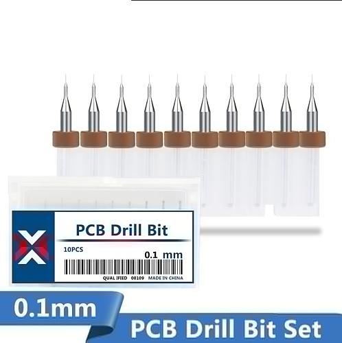 10Pcs 0.1mm Print Circuit Board Drill Bit Sharpening Drill Bits Import Carbide PCB Drill Bits  Mini CNC Drilling Bit