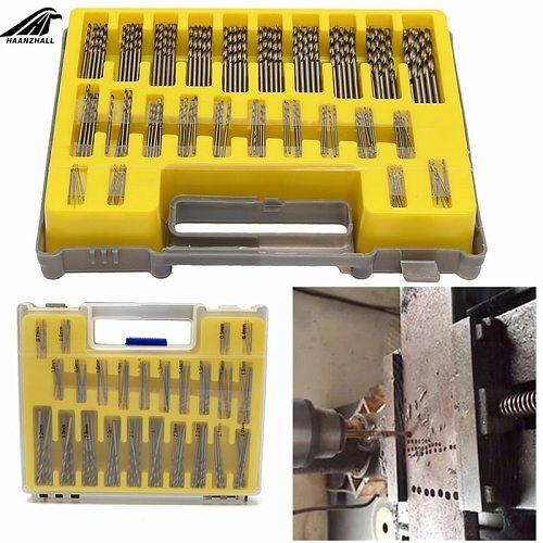 150pcs Hss Micro Bit Twist Drill Set Kit Mini Small Precision Hss Power Drill 0.4mm-3.2mm Pcb Drill Bit Craft Hole Maker + Case