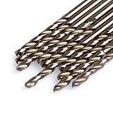 1 Set 10Pcs/Set 3mm M35 Triangle Shank HSS-Co Cobalt Twist Drill Spiral Drill Bit