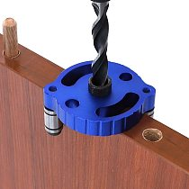 6 8 10mm Dowel Jig Self-centering Vertical Pocket Hole Jig Locator Hole Puncher Aluminum Alloy Drill Guide for Wood