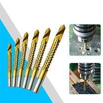 3-8mm Titanium Coated HSS Drill Bit Electric Drill Plastic Metal Hole Grooving Drill Saw Woodworking Tools