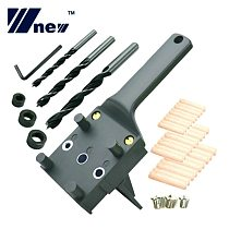 Woodworking Dowel Jig 6 8 10mm Wood Drill Handheld Pocket Hole Jig Doweling Hole Saw Drill Guide Tools For Carpentry