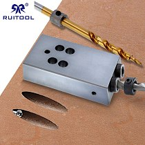 Pocket Hole Jig 9.5mm Hole Drill Guide with Large Sawdust Removal Hole Aluminum Alloy 6061 Wood Jig Tool for Carpentry