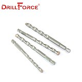 Drillforce Masonry Drill Bits Tungsten Carbide Tipped Concrete Brick Stone Drilling Set Size 4/5/6/8/10mm Quick Change Hex Shank