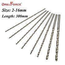1PC 2mm-16mm Extra Long 300mm Metal Wood Plastic HSS Twist Drill Bit (2/3/3.5/4/4.5/5/5.5/6/6.5/7/8/9/10/11/12/13/14/15/16mm)