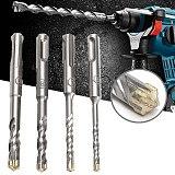 110mm 5/6/8/10mm SDS Plus Masonry Crosshead Twin spiral Hammer Drill Bits Twist Drill Bit for Woodworking & Metal