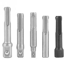 3PC SDS Plus Steel Socket Adapter 2PC SDS Socket Hexagonal Extension Electric Tool Accessories