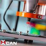 XCAN 10pcs 0.35mm Carbide PCB Drill Bits Print Circuit Board Mini CNC Machine Drilling Bit Set