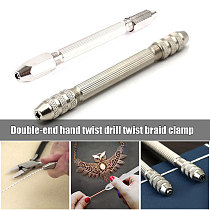Twist n' Braid Pin Vise Hexagonal Double Ended Pin Vice Wire Tool Double-head Hand-twisted Drill Manual for DIY watch repair TB
