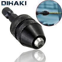 0.3-3.6mm 1/4'' Hex Shank Keyless Chucks Adapter Drill Bit Quick Change Driver Hex Shank Adapter Converter Hexagonal Handle