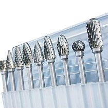10 Pcs/set 6mm-12mm Tungsten Carbide Burr Bit CNC Engraving 1/4  Cutter Files Hot Sale Bit tool fitting