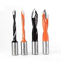 1pc Tungsten Carbide Alloy Drill Bit Woodworking Through Hole Drill CNC Router Bit Drill Resistant Dia.5-10mm Hole Making Drill