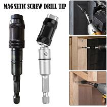 1/4  Magnetic Screw Drill Tip Drill Screw Tool Quick Change Locking Bit Holder Drive Guide Drill Bit Extensions 20° Rotatable
