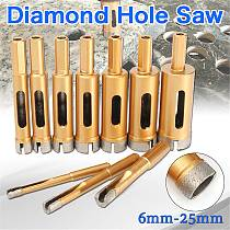 6mm-25mm Diamond Drill Bit Hole Saw Tile Glass Marble Glass Hole Cutter for Marble Granite Tile Ceramic Glass