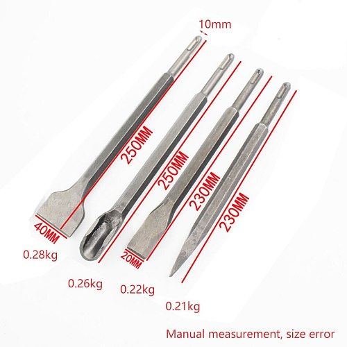 4pcs Electric Hammer Drill Bit Set chisel Shank Impact Rotary Concrete Masonry Drilling Grooving