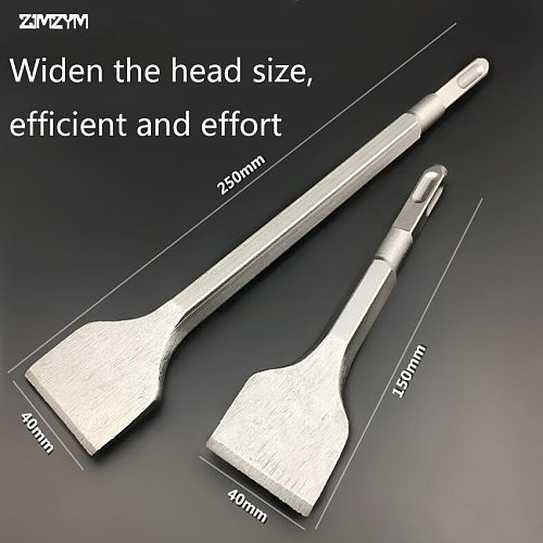 150MM/250MM Length Square Mini Electric Hammer Chisel Spade Drill Bit For Concrete/Brick/Wall/Tile Slotting Drilling