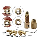 7PC 2mm/2.35mm/3.17/4.05/5.05mm Electric Drill Bit Collet Micro Twist Drill Chuck Tool Adapter Small Drilling Power Hand Rotory