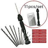 Hand Drill Set Precision Pin Vise With 25 Pcs Mini Twist Drill Bits For Model,Diy,Jewelry Making,Multipurpose Rotary Tool Dril