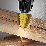 1Pcs 4-42 MM Drill Bit HSS Step Drill Bits Woodworking Tools High Speed Steel Wood Hole Cutter Cone Drills сверло ступенчатое