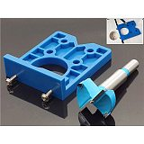 1PC 35mm DIY Locator Accurate Wood Mounting Hinge Drilling Jig Guide Door Hole Saw Opener Concealed Cabinet Accessories Tool