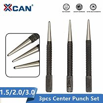 XCAN Non Slip Center Punch 1.5/2.0/3.0mm High Carbon Steel Scribe Marking Tool Wood Metal Drill Center Punch