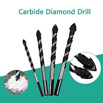 6-12mm Tungsten Steel Metal Alloy Triangle Drill Bits for Ceramic Wall Glass Concrete Hole Opener  Black Cutter Nail Metal Drill