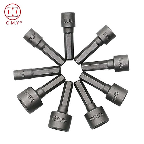 9Pcs Powerful hexagonal non-magnetic sleeve head pneumatic approved batch head screwdriver self-tapping screws disassemble tool