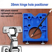 35mm Hinge Hole Drilling Guide Locator Hinge Drilling Jig Concealed Guide Woodworking Hole Opener Door Cabinet Accessories Tool