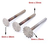 1PCS 6MM Shank Countersink Drill Bits Wood Root Carving Point Burr Knife Milling Cutter Head Die Electric Grinder Abrasive
