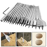 New arrival 19Pcs 11-38mm Spade Drill Bit Set with Extended Rod High Speed Steel Wood Drill Bit Set for Woodworking