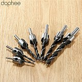dophee 3/4/5/6MM Woodworking Tools Wood Drill Bits HSS Flute Countersink Drill Bit Reamer Chamfer Tool Drill Accessory Carbon