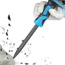 AKDSteel 3Pcs/Set Multifunction Flat Chisel Point Chisel Drill Bit Set for SDS Plus Silver Color