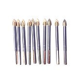 BOSI 10pcs 6mm Porcelain Spear Head Ceramic Tile Glass Marble Drill Bits Set