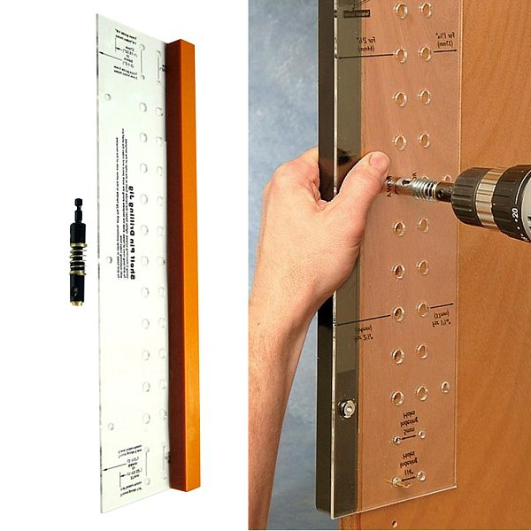 Shelf Pin Bit Drilling Jig Projects Furniture Hinge Mounting Mini Cabinet Door Home Tool Reaming Self-Centering Multifunctional