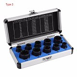 10Pcs Damaged Bolt Nut Screw Remover Extractor Removal Set Nut Removal Socket Tool Threading Hand Tools Kit With Box Hot Sale