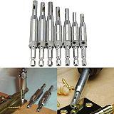 4Pcs Center Drill Bit Doors Self Centering Hinge Tapper Core Drill Bit Set Hole Puncher Woodworking Tools 5/64 -11/64