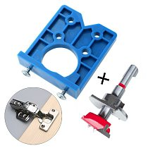 35mm Concealed Hinge Drilling Jig Guide Hinge Hole Drilling Guide Carpenter Woodworking Tool Hole Opener Locator Door Cabinet