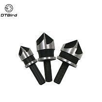 3Pcs 90 Degree 1/4 Hex Shank Countersink Drill Bit 5 Flute 12-19mm Woodworking Counter Sink Chamfering Debur Tool Set   DT6
