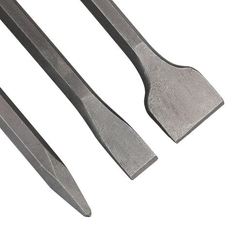 LanLan 3Pcs/Set Multifunction Flat Chisel Point Chisel Drill Bit Set for SDS Plus Silver Color